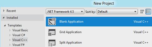Visual C++ nuova applicaizone e template vuoto