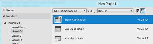 Nuova applicazione vuota C#