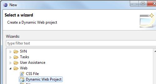 Creare un Dynamic Web Project