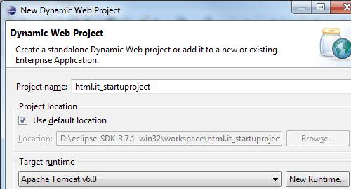 I parametri del progetto