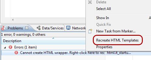 Ricreare i template HTML