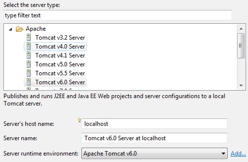 Definire un server Tomcat