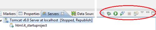 Il nuovo server nella tab Server con i relativi widget