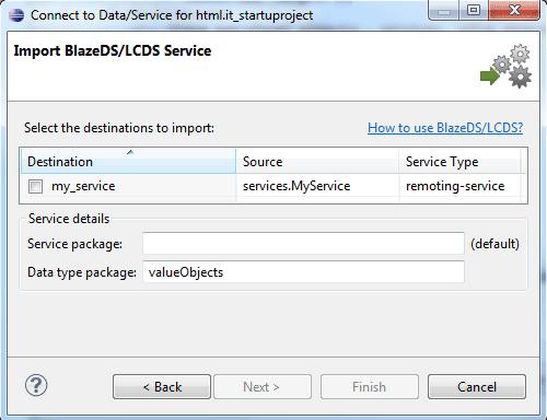 Import BlazeDS/LCDS Service