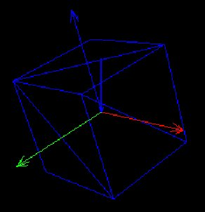 Mesh di un cubo  vista nella view SceneExplorer