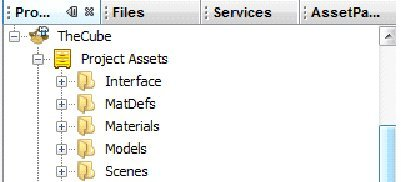 assets del progetto