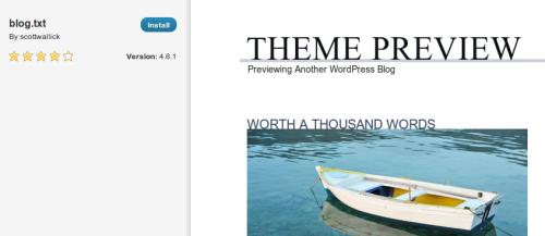 Figura 5. Nuova preview dei temi per WordPress 3.4