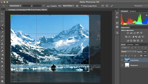 L'area di crop di Photoshop CS6