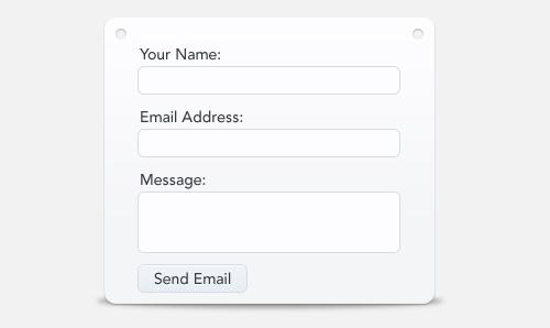 Clean-contact - esempio di form
