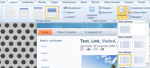 Cambio di layout in Artisteer