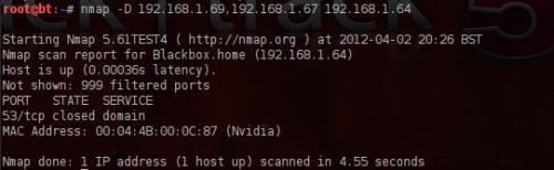 host esca Nmap