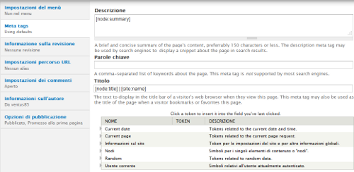 Inserire i meta tag su Drupal 7