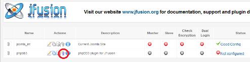 Pulsante per amministrare jFusion e phpBB3