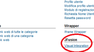 JFusion Visual Integration