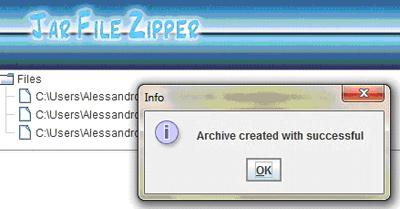 file zipper: creazione dell'archivio