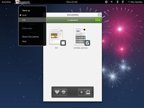 Figura 2: Il nuovo Application Menu su Fedora 17