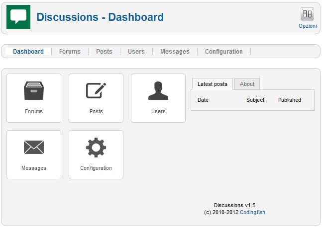 Creare forum con discussion
