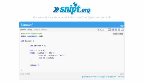 Figura 9: Snipt.org