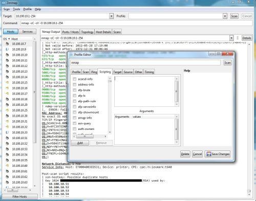 Interfaccia di selezione degli script