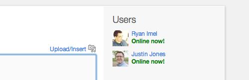 Il widget Who's Online mostra gli utenti attivi