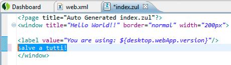 zk: il nostro index.zul