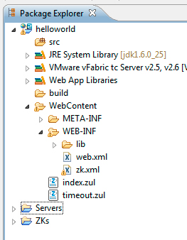 il progetto ZK nel package exporer di STS
