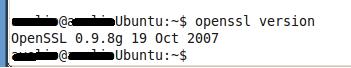 La versione di OpenSSl installata sul nostro sistema