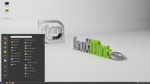 Figura 2: Cinnamon 1.4 su Linux Mint 13
