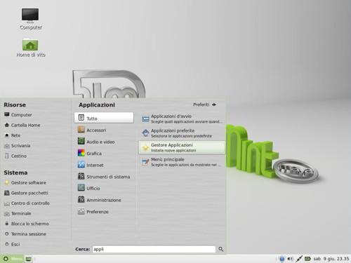 Figura 1: MATE su Linux Mint 13