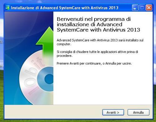 Advanced SystemCare con Antivirus 2013