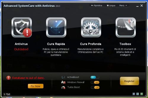 Advanced SystemCare con Antivirus 2013 italiano