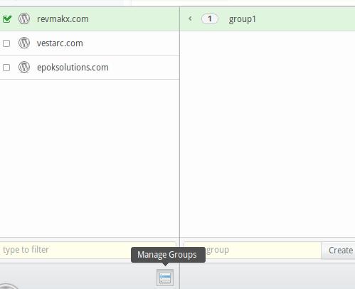 Gestione dei gruppi per i siti in InfiniteWP per WordPress