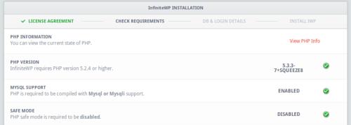 Installazione di InfiniteWP