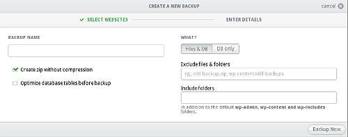 Backup WordPress con InfiniteWP