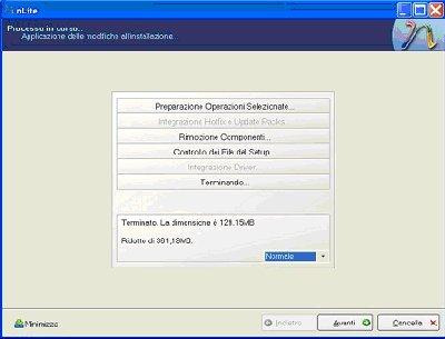 nLite: Processo