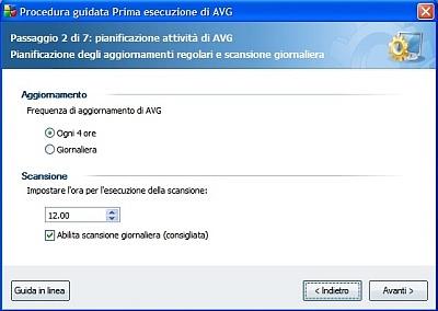 Prima esecuzione di AVG