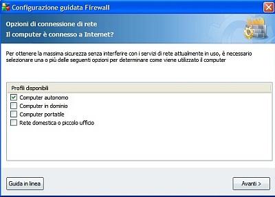 Impostazione Firewall