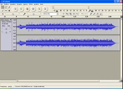 Interfaccia Audacity