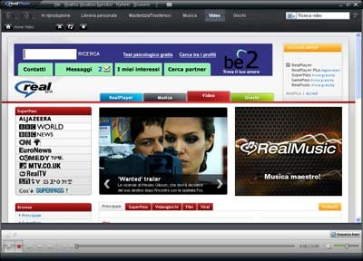 Interfaccia Real Player
