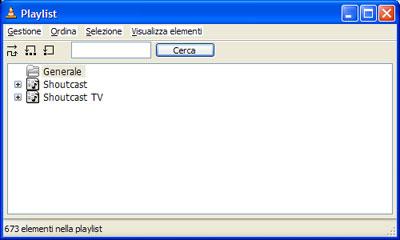 Finestra playlist