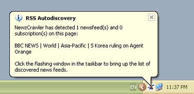 Funzione RSS Autodiscovery