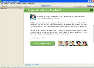 Instant Developer - Interfaccia utente