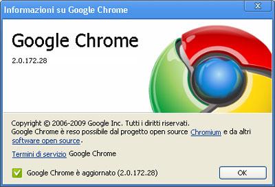 Google Chrome versione 2.0