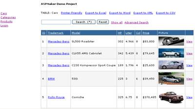 Esempio di sito web con un database