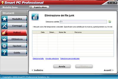 Eliminazione file junk