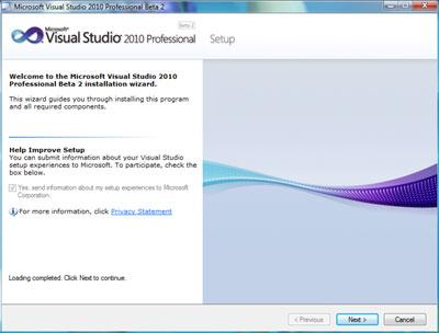 Installazione Visual Studio 2010