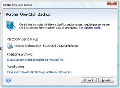 Finestra One-Click Backup