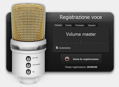 Registrazione voce