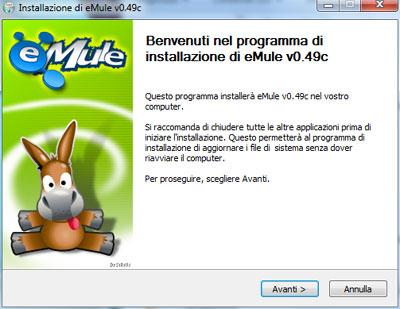 Installazione eMule