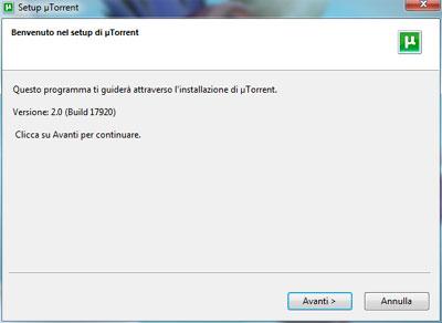 Installazione uTorrent